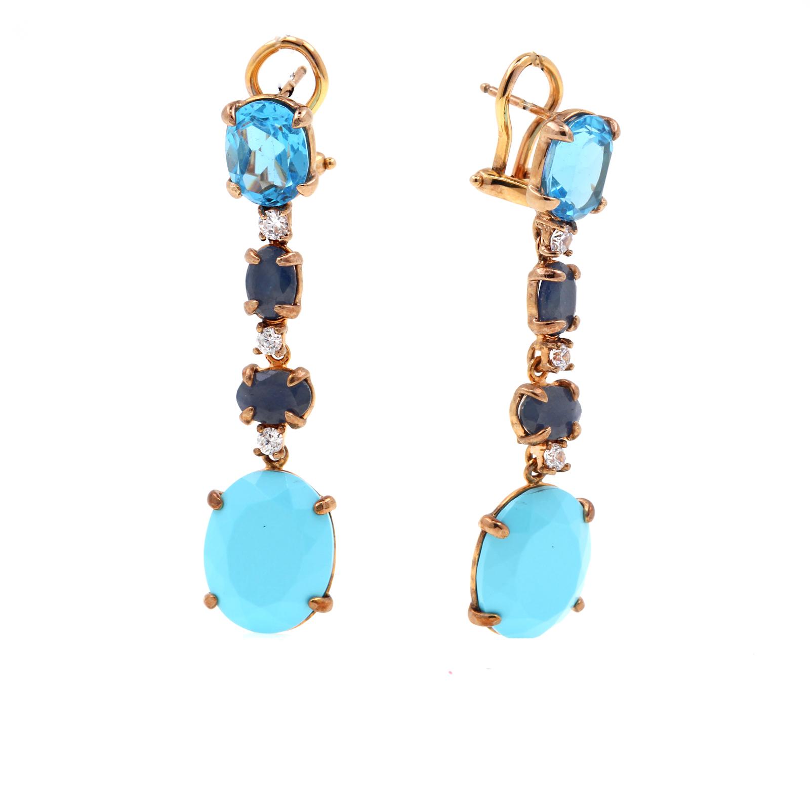 pendientes plata azules - pendientes largos azules - pendientes plata dorada - pendientes topacio - pendientes zafiro - pendientes turquesa