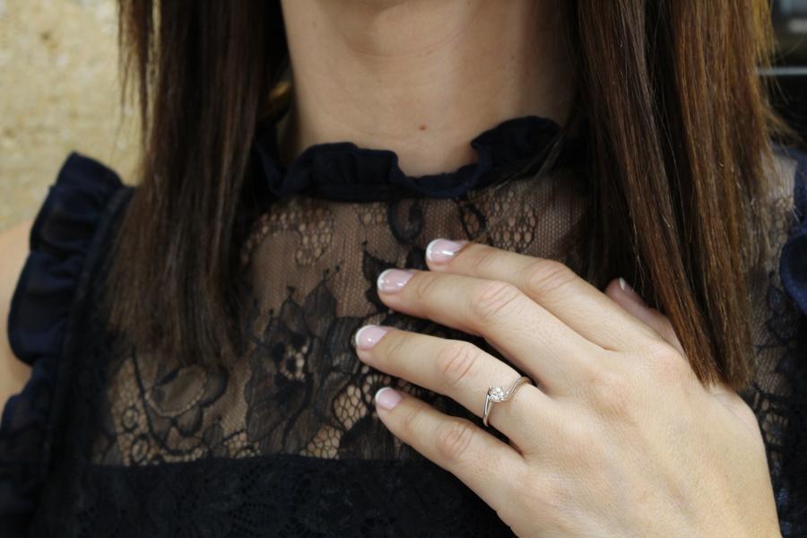anillo compromiso oro blanco 0,20 kts - donde comprar anillos compromiso alicante mejor precio - engagement rings alicante - joyeria marga mira