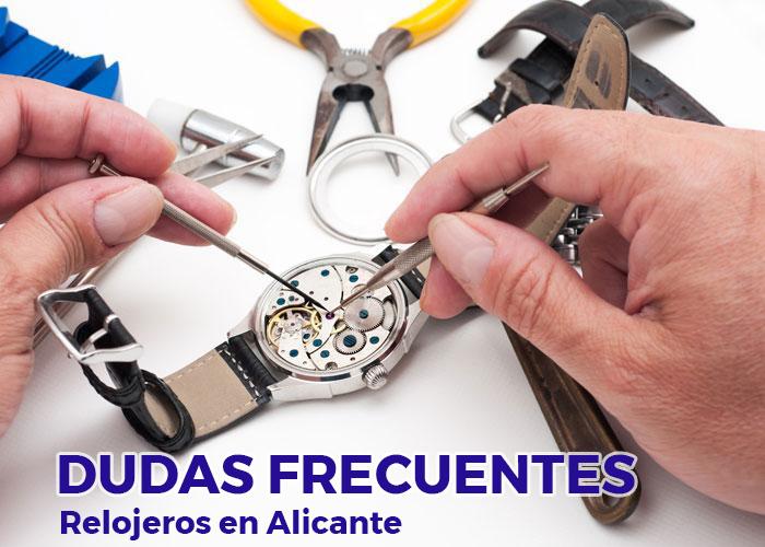 preguntas taller relojeria alicante - relojeros alicante - arreglar relojes alicante - joyeria marga mira - relojerias alicante