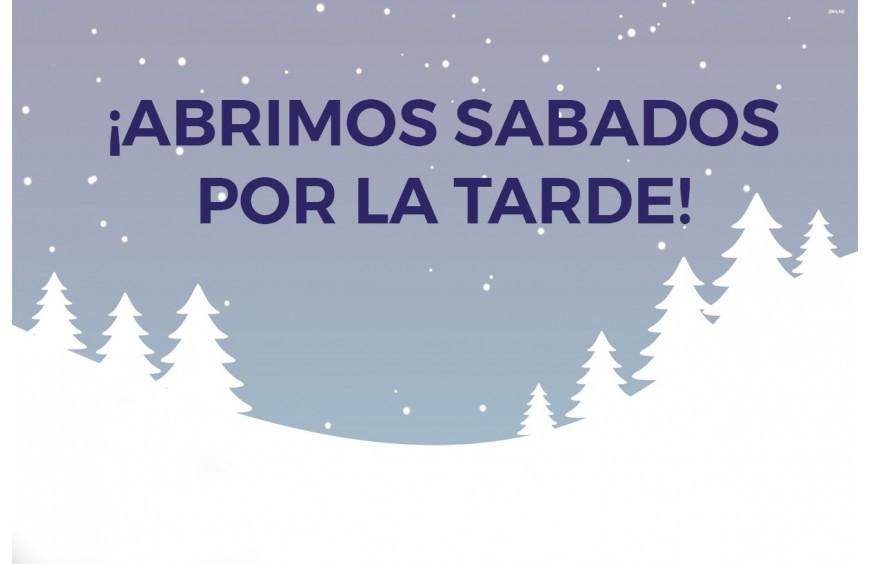 ¡Abrimos los Sábados por la Tarde!